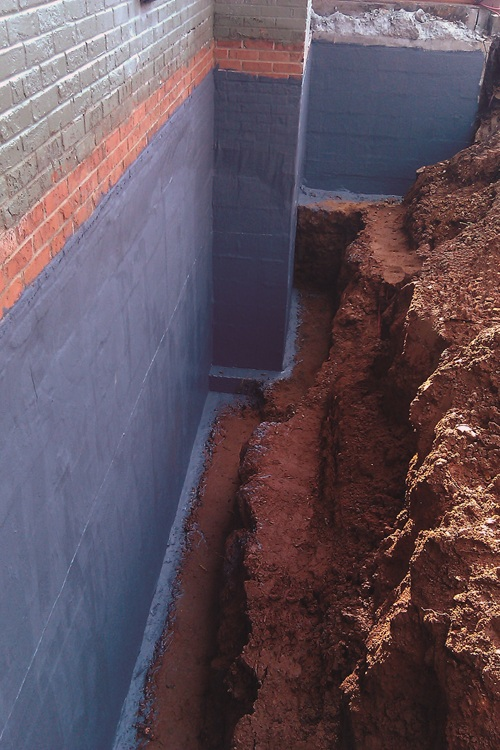 Below Grade Enviroflex Wall