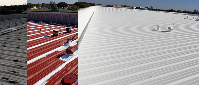 Metal Roof: Before, During and Completed Project